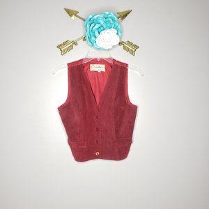 Vintage Carla Red Vintage Vest Size M